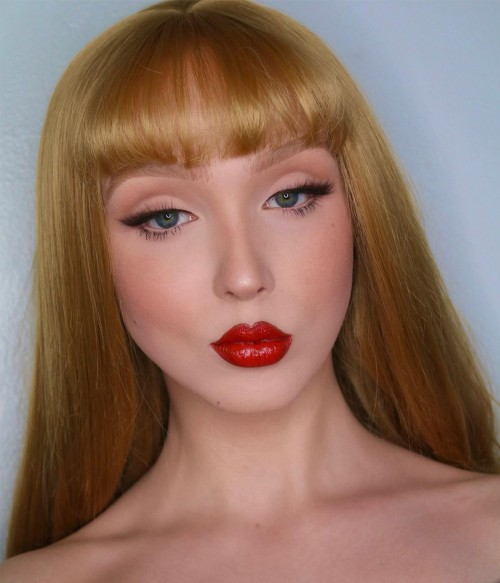 Claudia |Bronde Shoulder Length Synthetic Lace Front Wig with Bangs