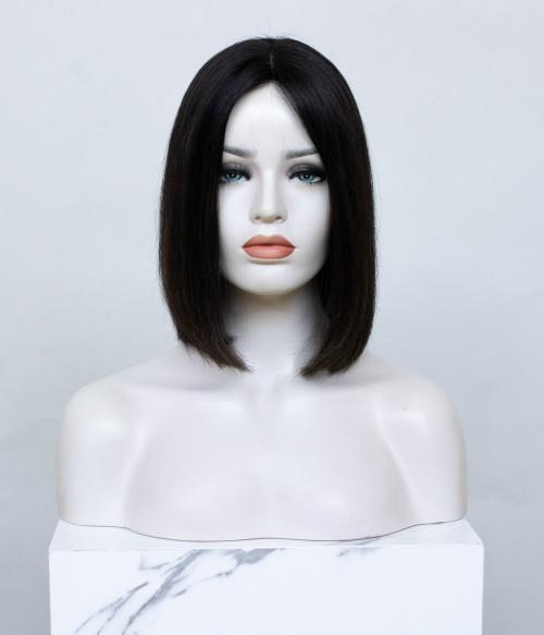"""8.5""""x9"""" Melanie Bob   Mono Top Remy Human Hair Topper"""