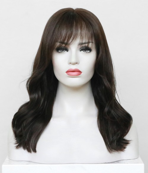 Betty Layed Full Hand Tied Lace wig with bangs | Lace Front