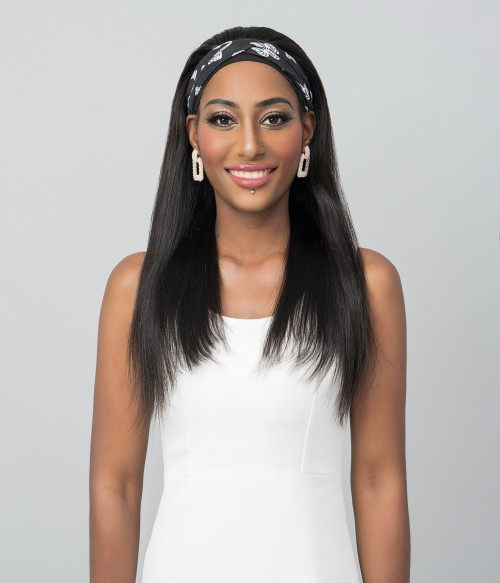 Rushe   Straight 100% Human Hair Headband Wig