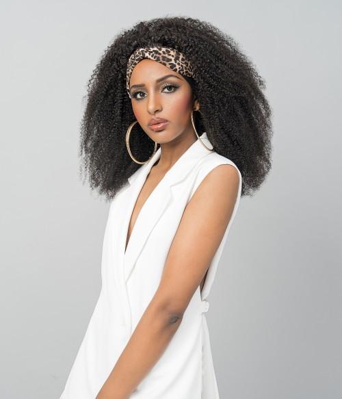 Margo | Afro Curly 100% Human Hair Headband Wig