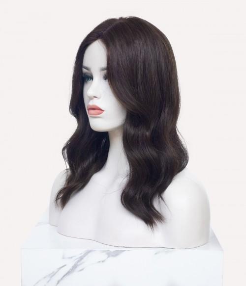 "8.5""x9"" Blake   Silk Part Remy Human Hair Topper   Middle Part"