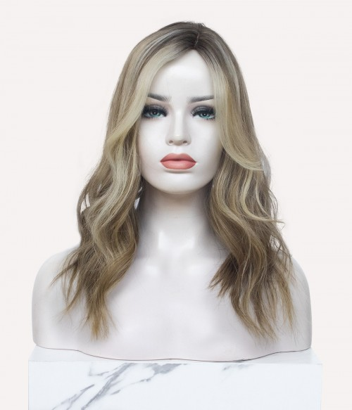 "8.5""x9"" Blake | Silk Part Remy Human Hair Topper | Left Part"