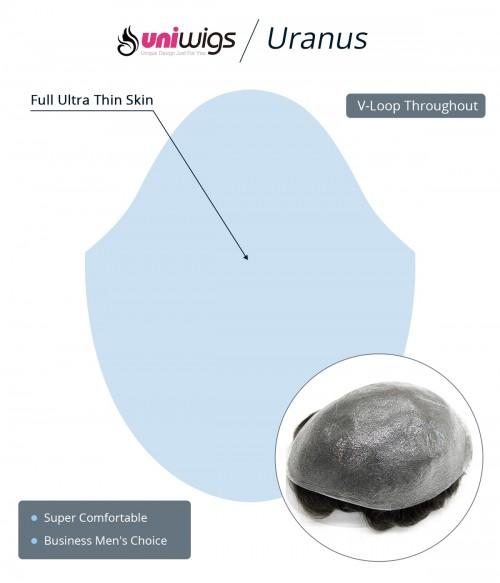 Eros-Ultra Thin Skin V-looped Hair System for Men