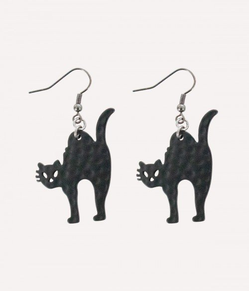 Witch Cat | Halloween Cat Earrings
