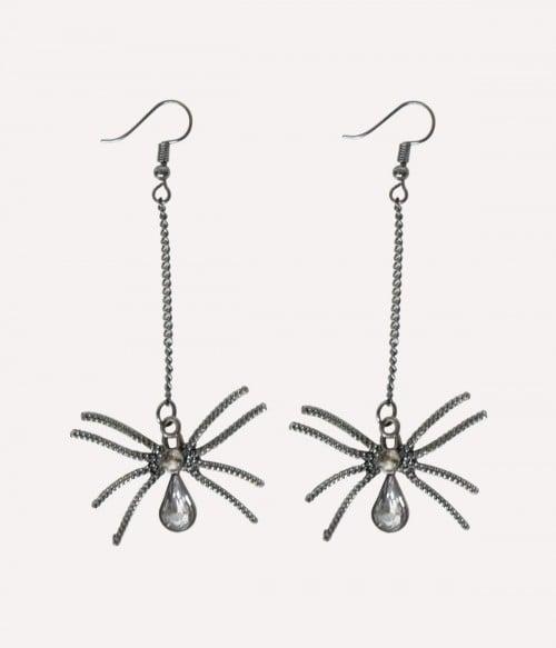 Gothic Spider   Metal Halloween Earrings