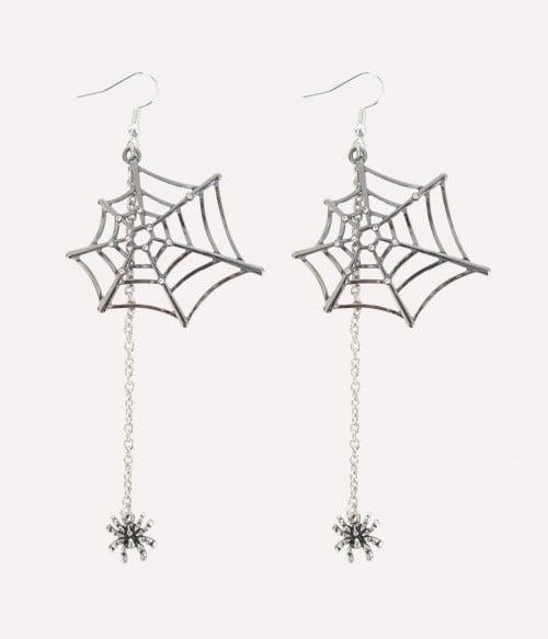 Gothic Cobweb| Spider & Web Dangle Earrings