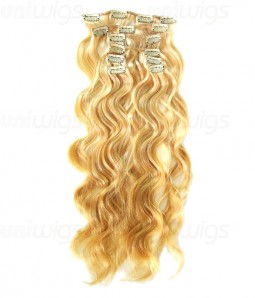 """20"""" 8 Pieces Body Wave Clip In Human Hair Extension E82007-H"""