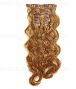 """20"""" Body Wave Clip In Remy Human Hair Extension 8 Piecess E82006 H"""