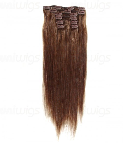 "20"" 8 Pieces Straight Clip In Human Hair Extension E82005-H"