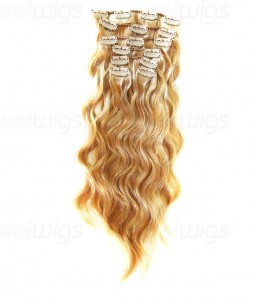 """16"""" 7 Pieces Body Wave Clip In Remy Human Hair Extension E71607"""
