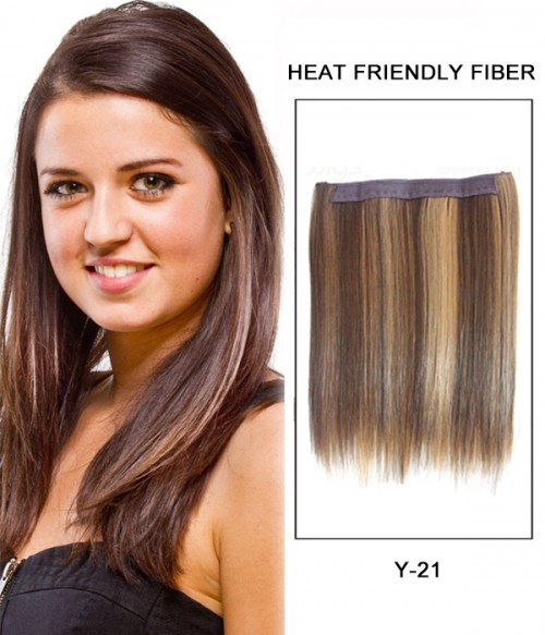 """16"""" Straight Synthetic Piano Color Flip In Hair Extension E51007-Y-21"""