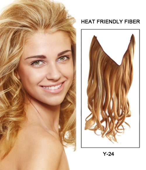 "16"" Wave Synthetic Flip In Hair Extension E51006-Y-24"