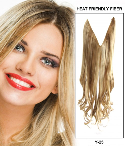 "16"" Wave Synthetic Piano Color Flip In Hair Extension E51006-Y-23"