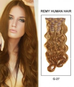 "20"" 8 Pieces Body Wave Clip In Virgin Remy Human Hair Extension E82004"