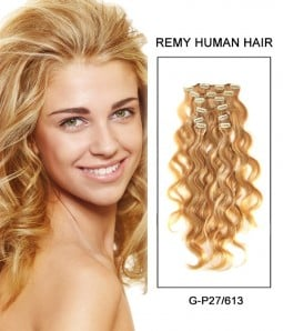 "22"" 8 Piece Body Wave Clip In Remy Human Hair Extension E82208"