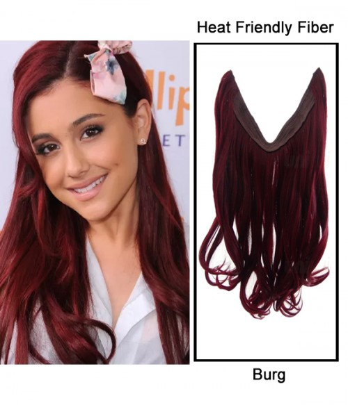 """16"""" Wave Synthetic Flip In Hair Extension E51006-Burg"""