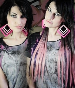 "25"" One Piece Ombre Pink Color Straight Clip In Heat Friendly Synthetic Extension TBE0001"