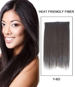 """18"""" Straight Synthetic Flip In Hair Extension E51009-Y-6O"""