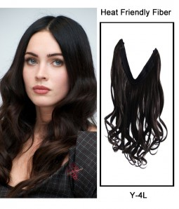 "Upgraded 22"" Wave Synthetic Flip In Hair Extension With Bead E52002-Y-4L