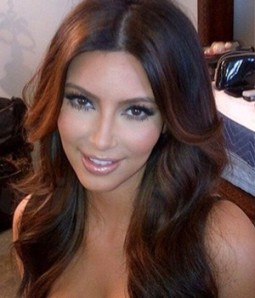 "Custom Kim Kardashian 20"" Wave Indian Remy Human Hair Ombre Color Lace Front Wig"