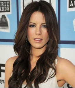 "Custom Kate Beckinsale 20"" Wave Indian Remy Human Hair Lace Front Wig"
