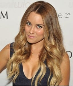 "Custom Lauren Conrad 22"" Wave Indian Remy Human Hair Ombre Color Lace Front Wig"