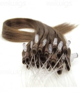 "16"" 25 pieces Silky Straight Micro-ring Remy Hair Extension"