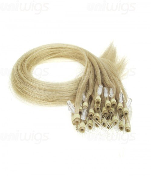"18"" 25 pieces Silky Straight Micro-ring Remy Hair Extension"