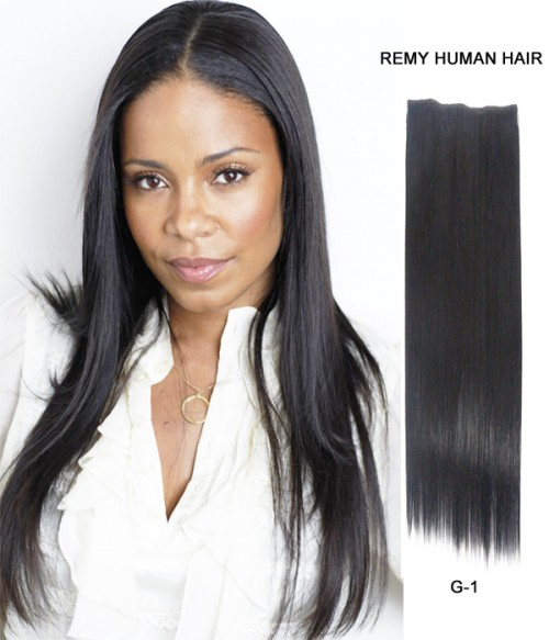 """20"""" Straight Indian Remy Human Hair Flip In Hair Extension"""