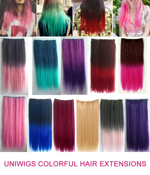 Colorful 60cm Clip In Hair Extension Uniwigs Official Site