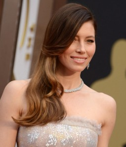 "Custom Jessica Biel 22"" Wave Indian Remy Human Hair Ombre Color Lace Front Wig"