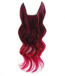 "20"" Ombre Pink Wave Heat Friendly Synthetic Flip & Clip In Hair Extension"