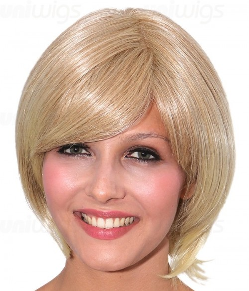 Julia Human Hair/Synthetic Blend Mono Wig