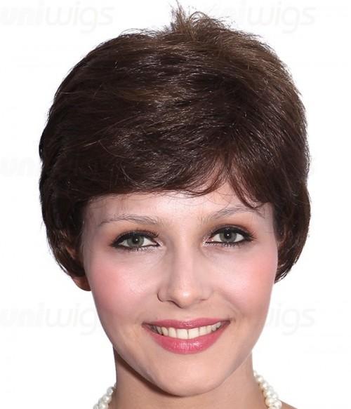 Kris Human Hair/Synthetic Blend Mono Wig