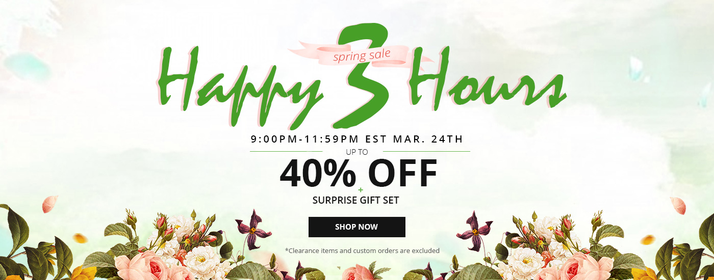 happy 3 hours - spring sale