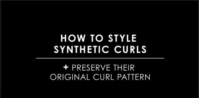 How to style synthetic wavy toppers
