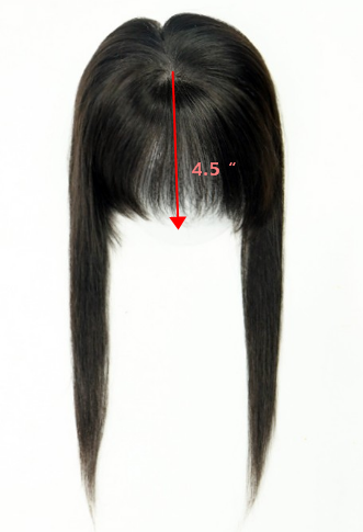 How to wear the bangs topper properly 1