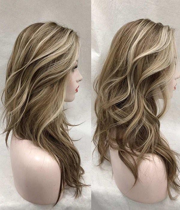 Natural Gold Blonde and Pale Brown Balayage
