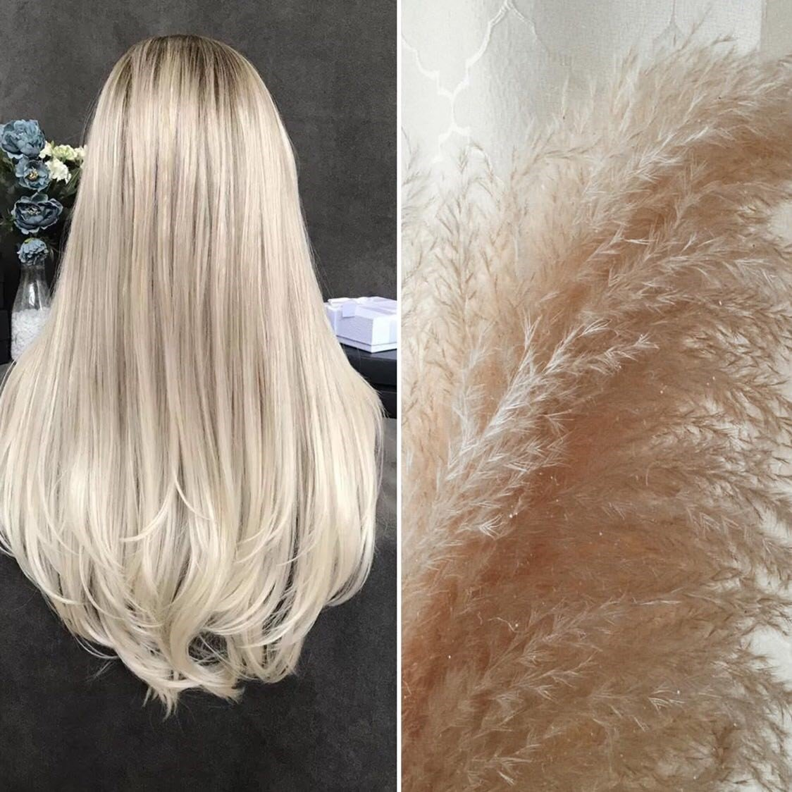 Natural Light Brown to Bleach Blonde Ombre