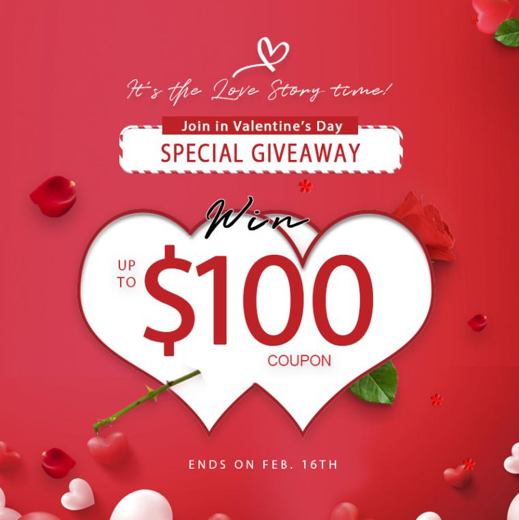 Share a Love Story & Win $100 Coupon