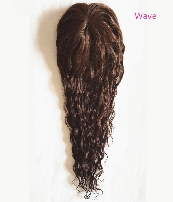 "Claire Curly Wave Virgin Remy Human Hair Topper - 5.5""×5.5"""