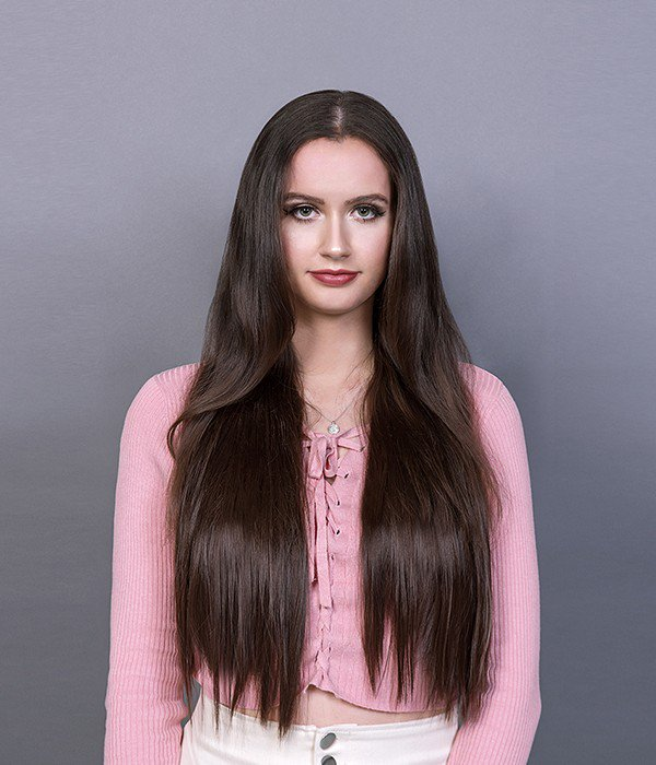 """Rapunzel 22"""" 5 Pieces Silky Straight Clip-In Synthetic Hair Extensions"""