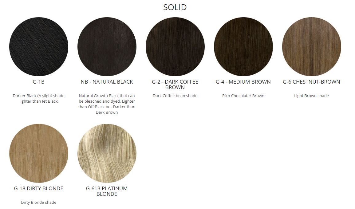 hair extensions solid colors