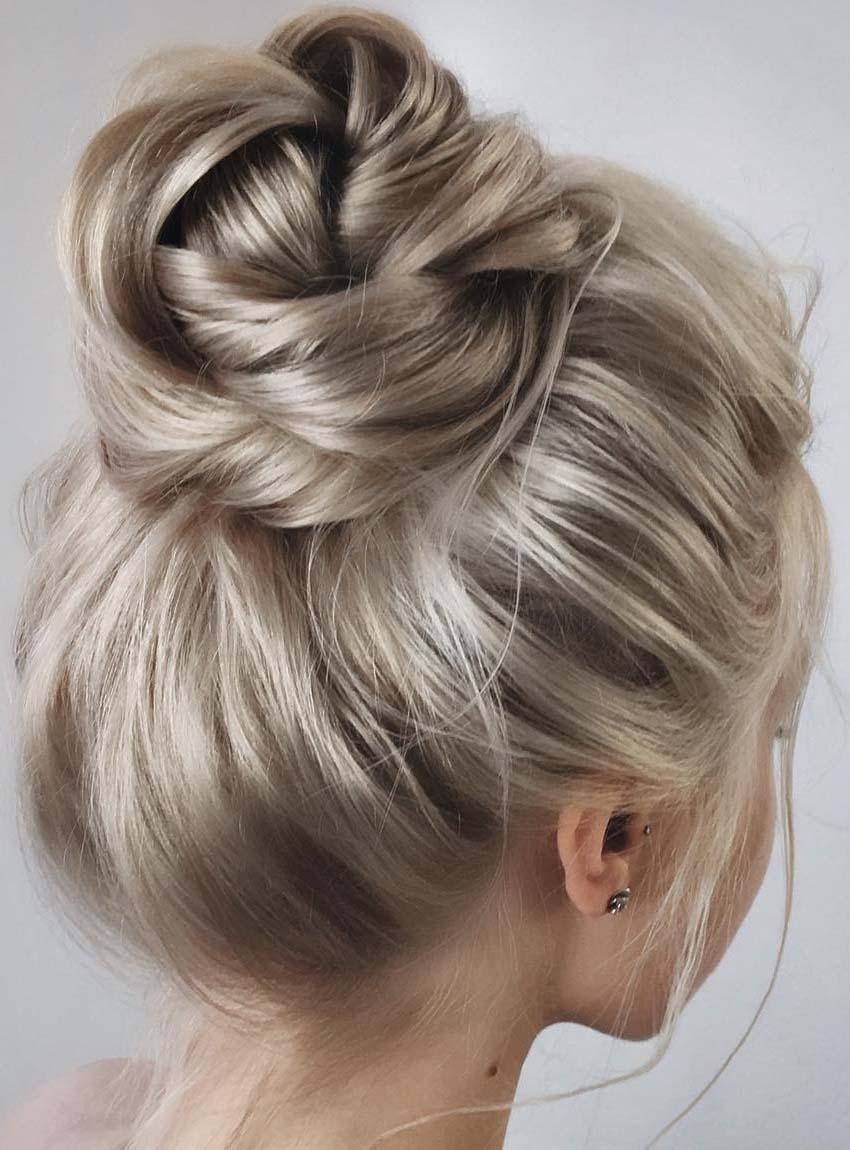high bun hairstyles
