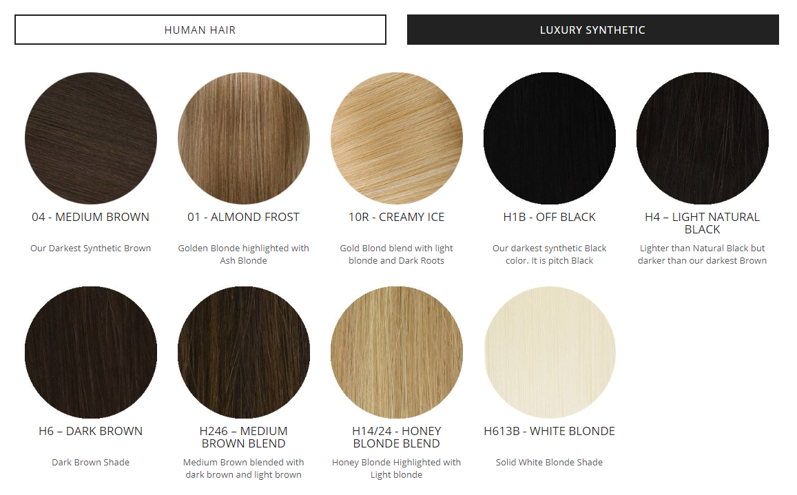 synthetic hair extensions colors