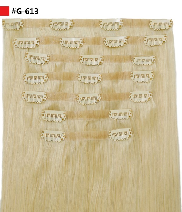 "Vanessa 120G 16"" Invisible Clip-in Remy Human Hair Extensions"
