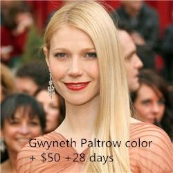 Gwyneth Paltrow color + $50 +28 days