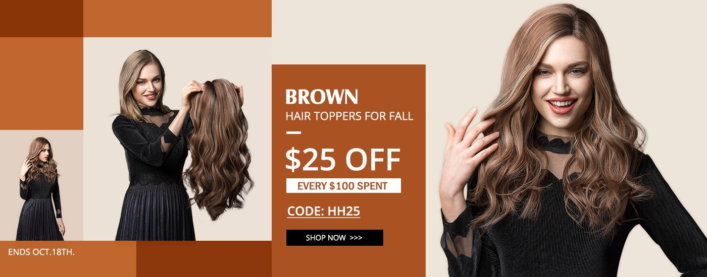 Brown Hair Topper for Fall