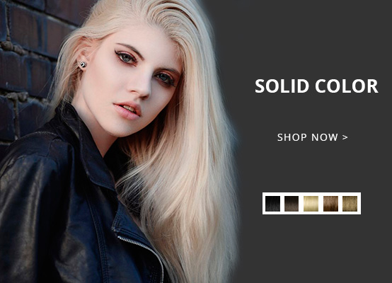 soild color hair extension